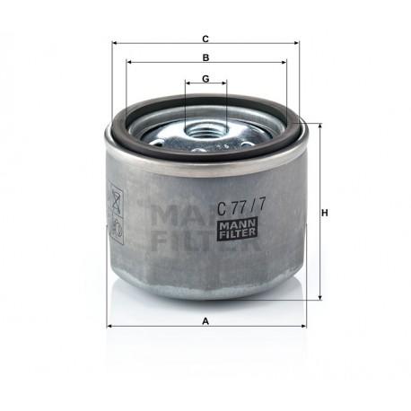 Filtro aria TURBO Iveco (MANN filter)