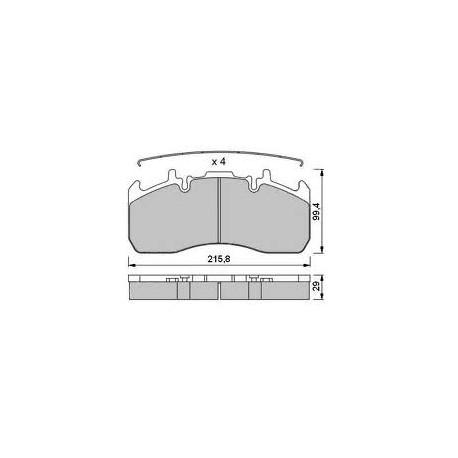 Kit pastiglie freno Volvo / Renault