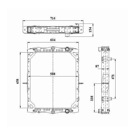 Radiatore acqua per Daf LF55 ( Rif. 1405176 )