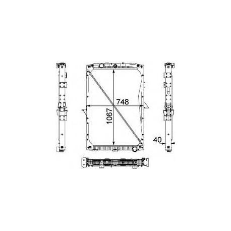 Radiatore acqua per Daf XF105 ( Rif. 1861737 )