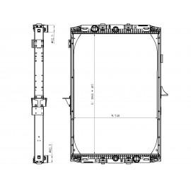Radiatore acqua per Daf XF95 ( Rif. 1326966 )