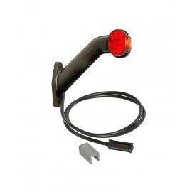Luce ingombro SUPERPOINT II destra 60° con cavo 1,25 m. 24 volt