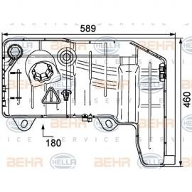 Vaschetta espansione raffreddamento Behr per Iveco Stralis ( Rif. Iveco : 41215631 500190338 )