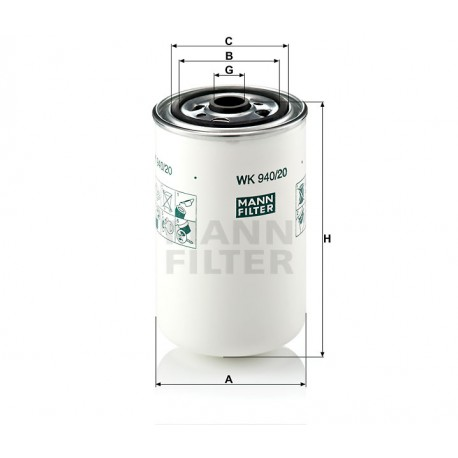 Filtro carburante Renault trucks (MANN filter)