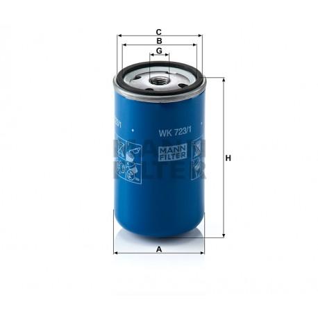 Filtro carburante Volvo e Scaniatrucks (MANN filter)