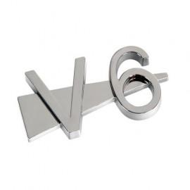 Emblema 3D cromato - V6