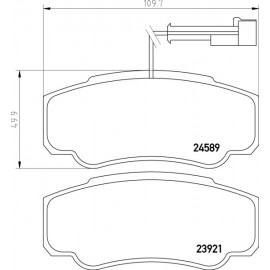 Serie pastiglie freno posteriori Textar 2392103 per Nissan Cabstar e Renault Maxity ( Rif. : D4060MA000 )