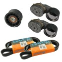 Kit cinghie e tendicinghie per Renault New Permium e Kerax ( Rif. Renault : 7485130484 7485124522 )