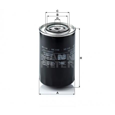 Filtro carburante gasolio Mann Fiter per Iveco Astra ( Rif. : Iveco 500315480 2994048 Astra : 132347 504082384 )