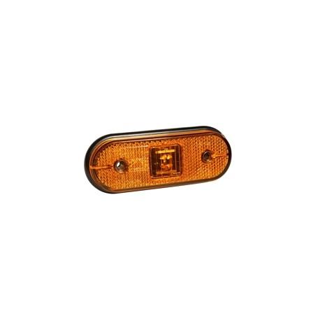 Luce laterale unipoint arancione con staffa 90° e cavo da 1,5 m.