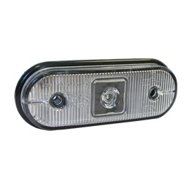 Luce di ingombro bianca interamente a LED con cavo da 0,5m e connessione P&R.