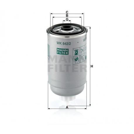 Filtro carburante gasolio per Iveco