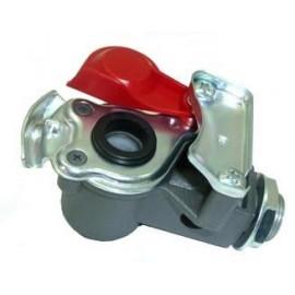 Attacco giunto ISO rimorchio con filtro e coperchio rosso