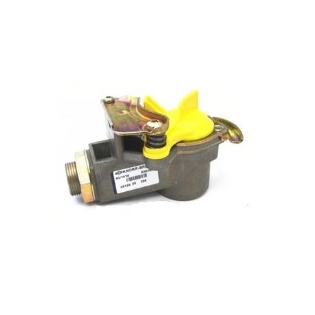 Attacco aria ISO rimorchio con filtro e coperchio giallo