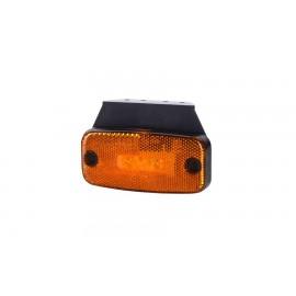 Luce laterale arancione a LED con cavo da 0,5m P&R, resinato direttamente nel fanalino e staffa di fissaggio rivolta in avanti.