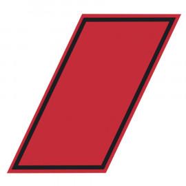 Adesivo rosso conto proprio 330x160