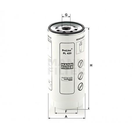 Filtro decantatore gasolio per Daf Mann Filter