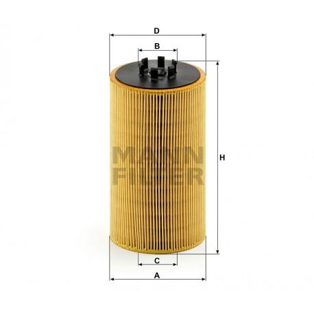 Filtro olio motore Mann Filter per Man TGA TGS TGX