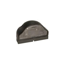 Luce targa nera REGPOINT senza lampadina e senza cavo 12/24 volt