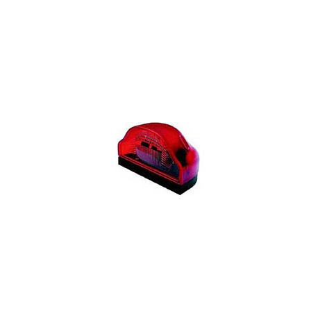 Luce targa REGPOINT con luce di posizione rossa 12/24 volt senza cavo
