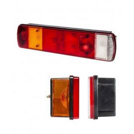 Fanale 7 funzioni sinistro per applicazione SCANIA con luce targabassa e gommino passacavo