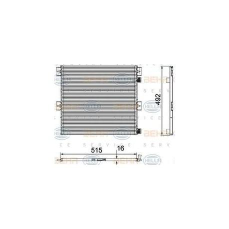 Radiatore condensatore aria condizionata per Volvo e Renault