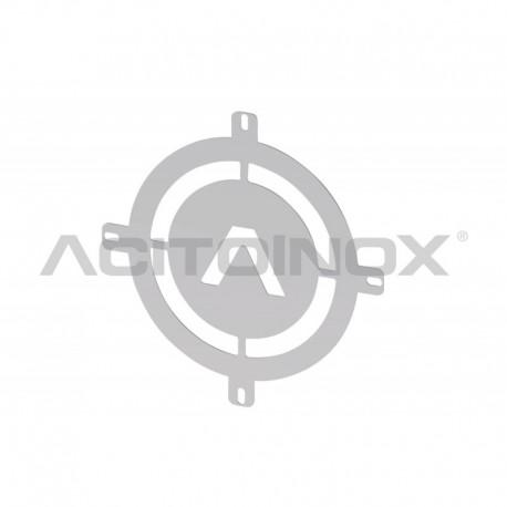Coprifaro personalizzabile in acciaio inox