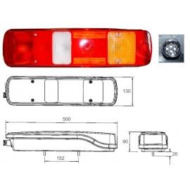 Fanale posteriore VOLVO sx con luce targa