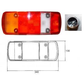 Fanale 5 funzioni tipo MERCEDES BENZ ATEGO sx con luce targa