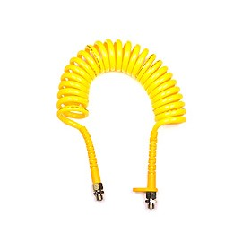 Tubo aria a spirale stretta giallo