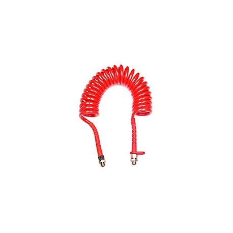 Tubo aria a spirale stretta rosso