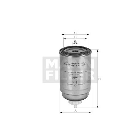 Filtro carburante Iveco MANN filter ( Rif. Iveco : 2992662 Astra : 132510 )