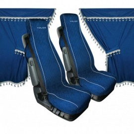 Melissa, set tende e coprisedili in microfibra per camion - Blu