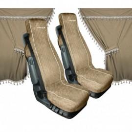 Melissa, set tende e coprisedili in microfibra per camion - Beige