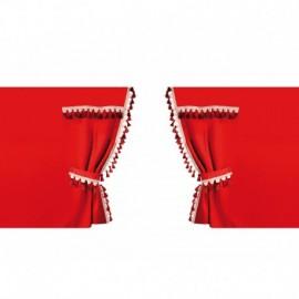 Oscura, tende perimetrali per camion, cabina standard - Rosso