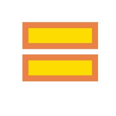 Coppia pannelli adesivi riflettenti rimorchio Ece70