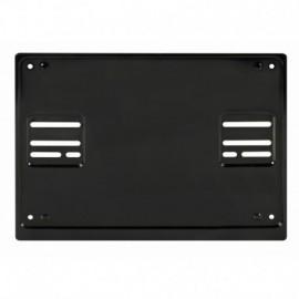 Portatarga posteriore quadrato in acciaio - Nero