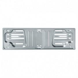 Porta targa anteriore in acciaio - Grigio