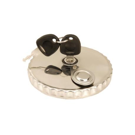 Tappo serbatoio 80mm con chiave in acciaio ventilato