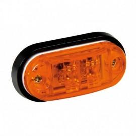 Luce ingombro a 2 Led, 24V - Arancio