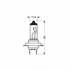 24V Lampada alogena Blu-Xe - H7 - 70W - PX26d - 2 pz - D/Blister