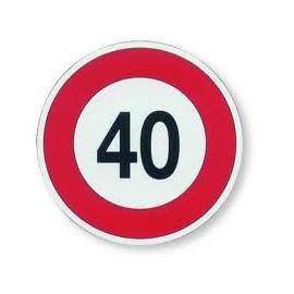 Disco adesivo limite 40 km/h