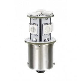 24/28V Hyper-Led 24 - 8 SMD x 3 chips - (P21W) - BA15s - 1 pz - D/Blister - Bianco - Doppia polarità