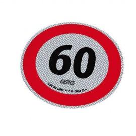 Disco adesivo limite 60 km/h