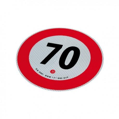 Disco adesivo limite 70 km/h