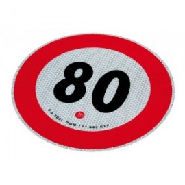 Disco adesivo limite 80 km/h