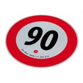 Disco adesivo limite 90 km/h