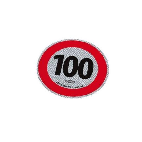 Disco adesivo limite 100 km/h