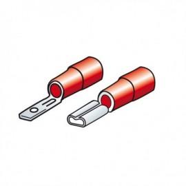 Kit 20 terminali-capicorda piatti - Rosso