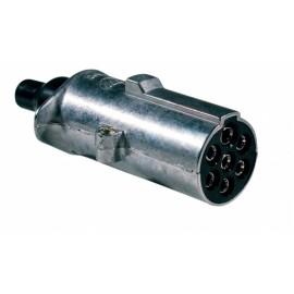 Spina 7 poli 24V in alluminio con contatti faston